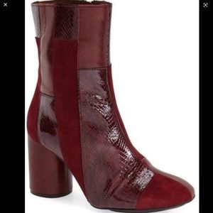TOPSHOP 'Powerful' Patchwork Ankle Boots